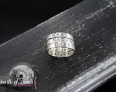 Sterling Silver Stackable Rings- Hammered 3mm Hand Stamped Mommy Ring- Posey Rings- Mothers Ring