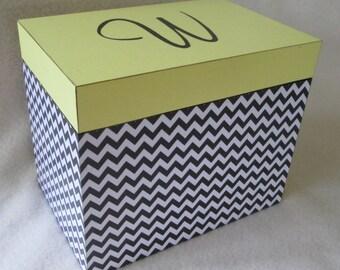 Large 5X7 Recipe Box - Personalized - Greeting Card Storage Box -  5X7 Wooden Recipe Box - Shower Gift