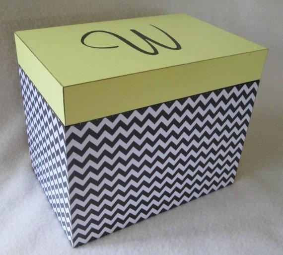 Large 5X7 Recipe Box Personalized Greeting Card Storage