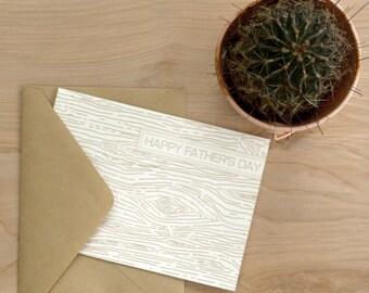 GREETING CARD | wood grain
