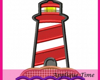 Instant Download Lighthouse Machine Embroidery Applique Design 4x4, 5x7 and 6x10