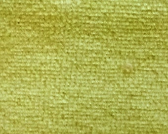 CVC Cotton Velour Fabric by the Yard (Sage)