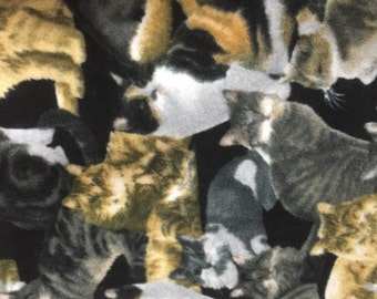 Cats Allover Fleece Fabric by the Yard