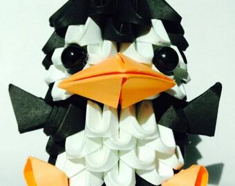 3D Origami  baby penguin kit