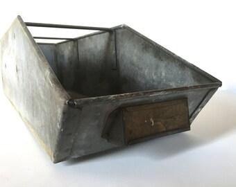 Vintage galvanized drawer - rustic