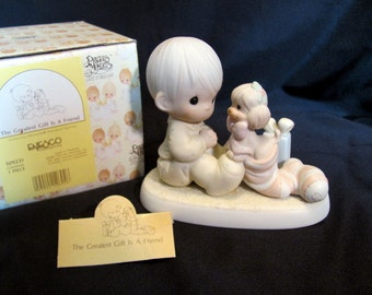 """Precious Moments """"The Greatest Gift is a Friend""""  1987 #109231"""