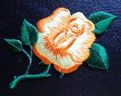 Iron On Patch Applique - Yellow Rose Flower Spray