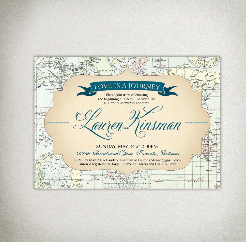INVITATION Bridal Shower / Wedding / Baby Shower Printable Vintage ...