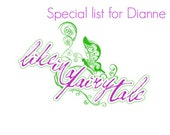 Special list for Dianne