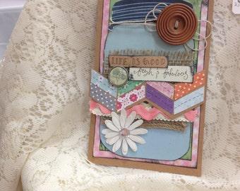 Handmade Mason Jar Blank Card