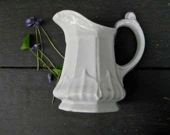 just a nice old ironstone pitcher creamer ~ farmhouse country kitchen