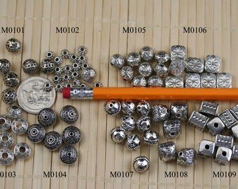 Antique Silver Finishing Plastic Bali Beads