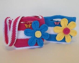 Crochet Pattern - Flower Purse Crochet Pattern #501 - Instant Download PDF