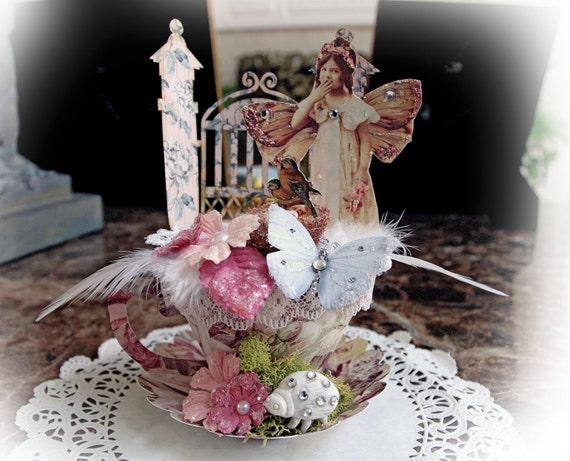 Miniature Fairy Tea Cup~ Magical Fairy Garden Tea Cup 3D Paper ...