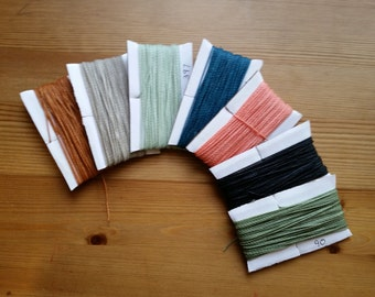 7 Colors to Choose/ 10.6 mt EACH/ Linhasita Macrame String/ Sample Pack (Choose Any Color in Stock)