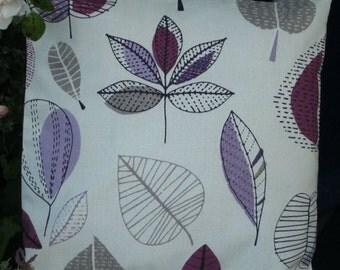 "Purple Leaves Cushion Cover  45cm (18"")  (No1)"