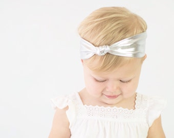 BOHO Collection: Silver Knot Stretch Headband