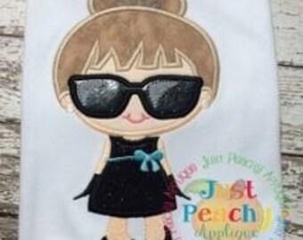 Tiffany Girl 1 Machine Embroidery Applique Design