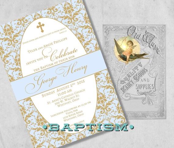 elegant baptism invitations  ctsfashion, Baptism invites
