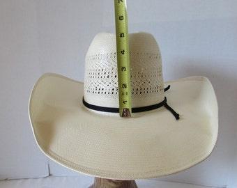 Western Cowboy Hat Large American Made/Genuine  Panama summer hat Unisex