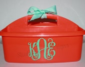 Monogrammed Shower Caddy - Must-Haves for Camp, Dorm Room & Sorority House - Graduation Gift - Assorted Colors/Designs