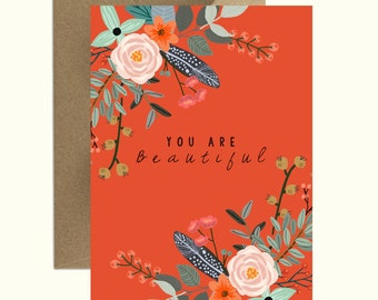 Greeting Card: You Are Beautiful