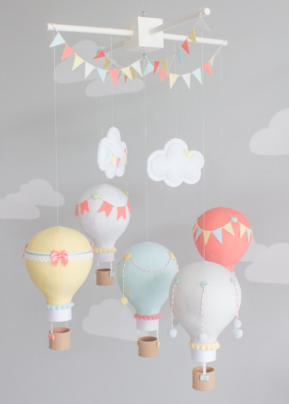 Hot Air Balloon Baby Mobile Nursery Decor By Sunshineandvodka