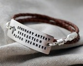 Silver Three Line Wrap Medical Alert Bracelet - Customize