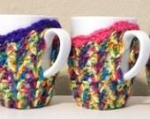 coaster mug cozy, mug cozy, mug sleeve