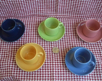 Mini Fiestaware Inspired Cups/Mugs and Saucers