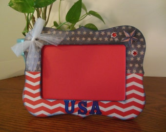 4 x 6 Patriotic / July 4th Picture Frame