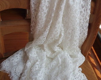 chantilly lace fabric, retro bridal lace fabric