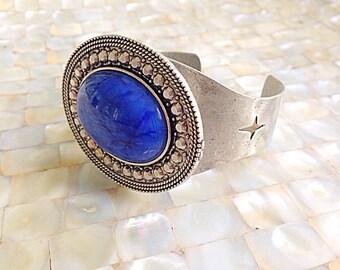 FLASH SALE!! Cobalt Blue Cuff Bracelet Silver