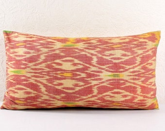 Ikat Pillow, Hand Woven Ikat Pillow Cover  lip118, Ikat throw pillows, Designer pillows, Decorative pillows, Accent pillows