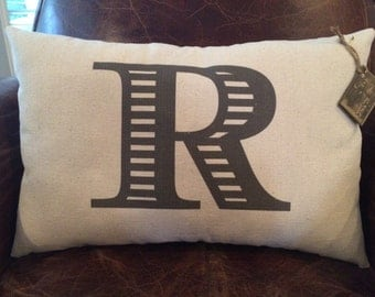 lnitial or Simple Monogram Pillow