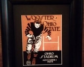 Vintage 1924 Wooster vs Ohio State Official football program print ready for framing