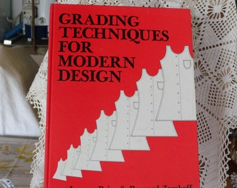 Jeanne Price & Bernard Zamkoff 'Grading Techniques for Modern Design' ~ Fashion ~1983 ~ Hard Cover