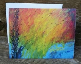 Abstract Print Notecard