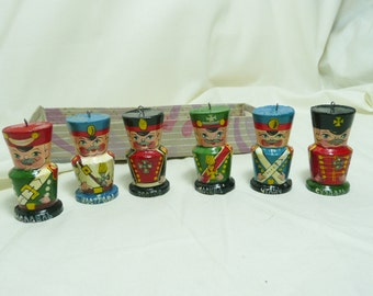 Vintage Russian Hand Painted Soldier Christmas Ornaments