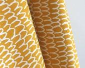 Organic Shrubbery in Gold from Yoyogi Park by Skinny Laminx for Cloud 9 Fabrics - ONE YARD Cut