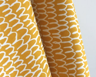 Organic Shrubbery in Gold from Yoyogi Park by Skinny Laminx for Cloud 9 Fabrics - ONE HALF YARD Cut