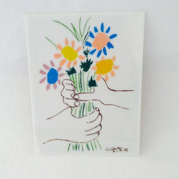 Picasso le bouquet petite fleurs hands with flowers for Picasso petite fleurs