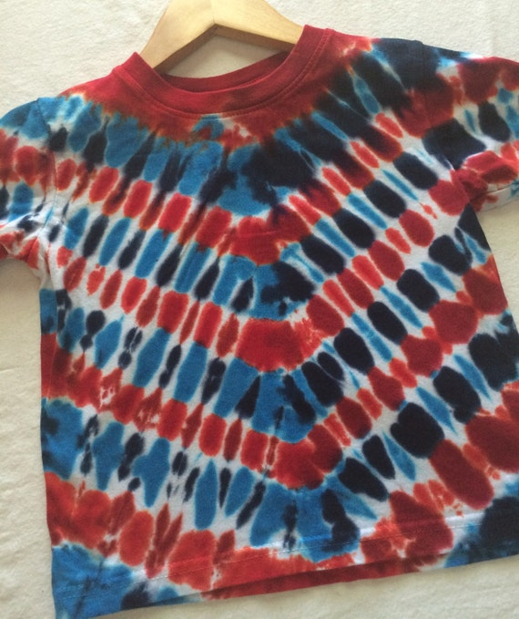 2t Toddler Red White And Blue 4th Of July Patriotic Tie Dye