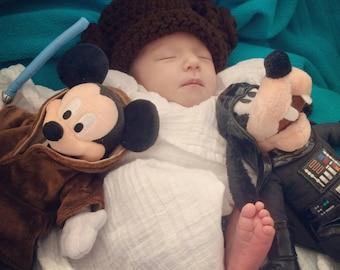 Crochet Princess Leia Beanie/Hat (Disney's Star Wars)