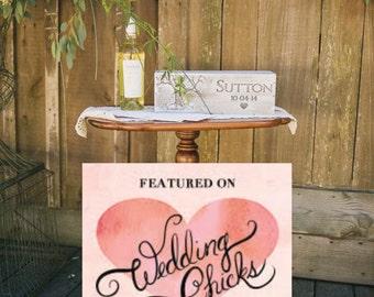 Wine Box Wedding Wine Box Wedding Gift Custom Wine Box Engraved Wine Box Anniversary Gift Wooden Wine Box Rustic Winebox Wine Box Ceremony