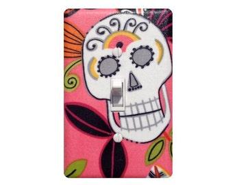 Day of the Dead Sugar Skull Light Switch Plate Cover / Kitchen / Jardin De Los Muertos / Alexander Henry