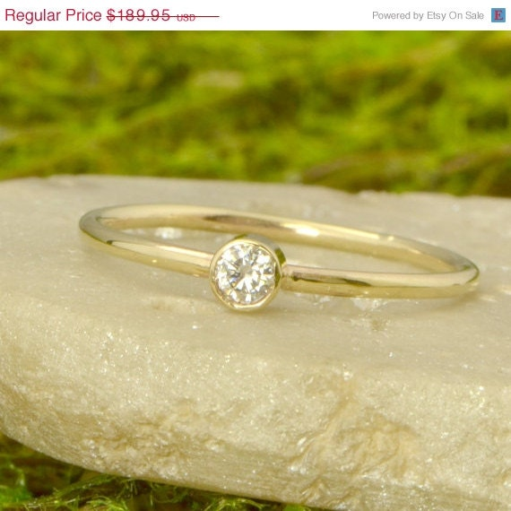 Engagement Ring Memorial Day Sale: Memorial Day Sale Moissanite Yellow Gold By