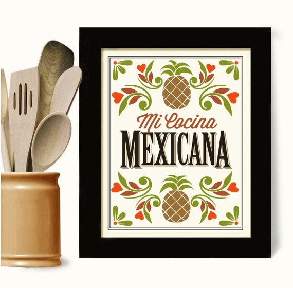 Kitchen Signs In Spanish: Mexican Kitchen Decor Art Print Mexican Home Mexican By DexMex