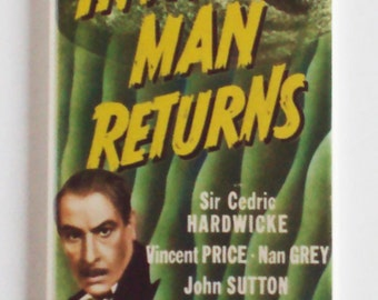 Invisible Man Returns Movie Poster Fridge Magnet (1.5 x 4.5 inches)