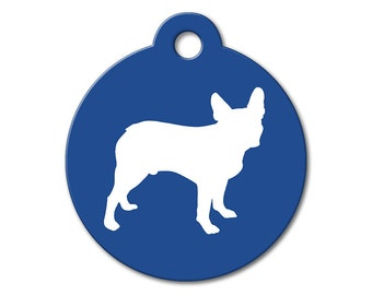 Boston Terrier - Personalized Pet Tags, Modern Pet Tags, Dog ID Tags, Dog Tags for Dogs, Designer Pet Tags - Modern Dog Silhouette Pet Tag